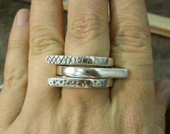 The ring set all finished