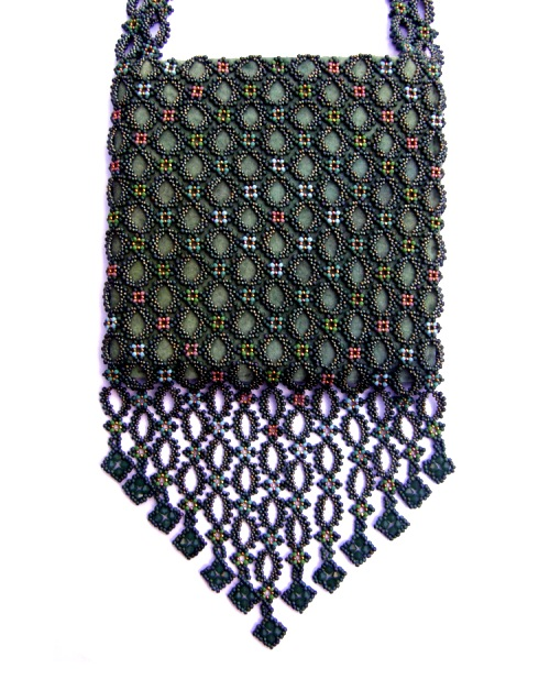 More Beadwork From Others :: 'Green Bag' by Sue Maguire