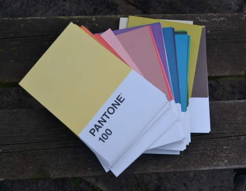 A Day With Friends :: I couldn't resist these Pantone postcards at the V&A