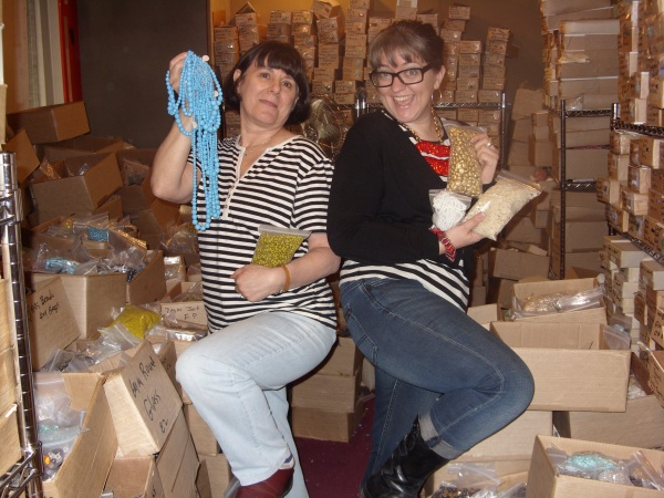 Merle and I shopping for beads back in November 2010