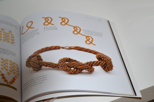 Small Beads Big Jewelry Is Here! :: A twist on a herringbone rope