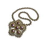 Peacock Lace Necklace