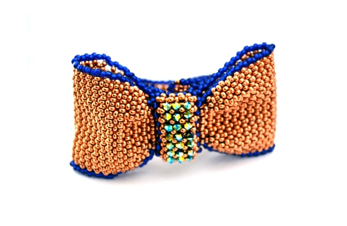Small Beads Big Jewellery :: Shelley Nybbakke's wonderful bow bracelet is one of 10 projects by specially selected designers