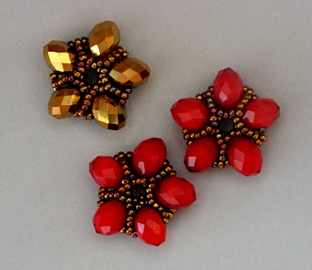 Crystal Wheels Kit- Coral Red And Gold