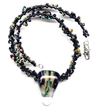 Dark Lampwork Necklace