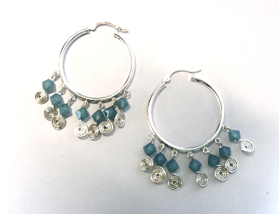Spiralled Hoop Earrings