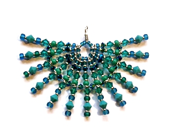 Jeanpower pizzazz pendant tutorial pizzazz pendant tutorial this dramatic pendant uses a variety of techniques combined with a mix of different shaped and sized beads to achieve is unusual aloadofball Image collections